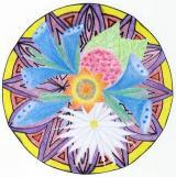 rozkvetlá mandala