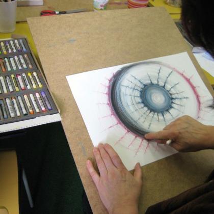 zkouška abstrakce v kurzu základy kreslení