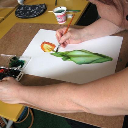 akvarel v kurzu základy kreslení