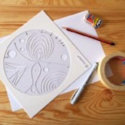 Šablona pro tvoření mandal