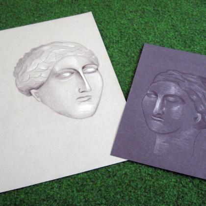 portrét v kurzu základy kreslení