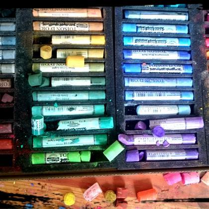 používáme suché pastely koh-i-nor