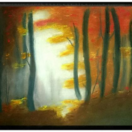 malba na béžový papír