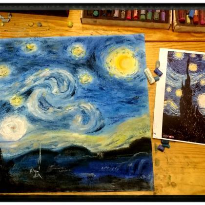 suchým pastelem se dá namalovat všechno