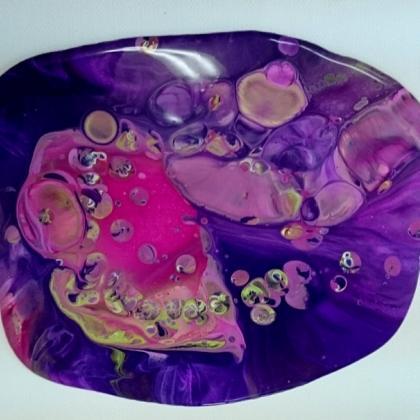 acrylic pouring první fáze