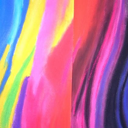 zářivé barvy suchého pastelu