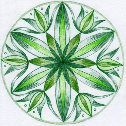 zelená mandala
