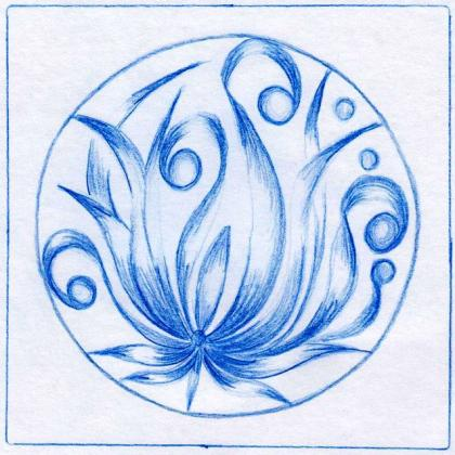 modrá mandala