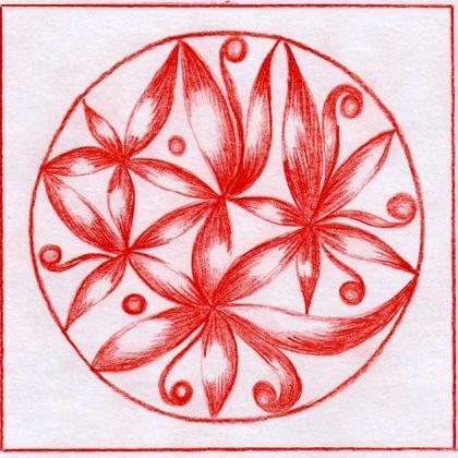 červená mandala