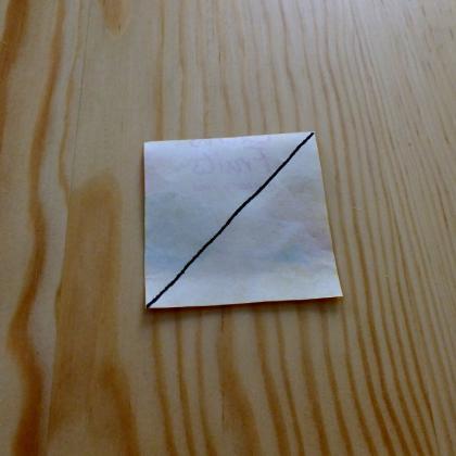první sklad  – tea bag folding návod