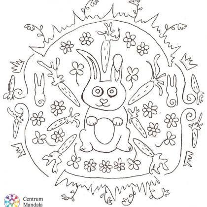 mandala pro děti - zajíc