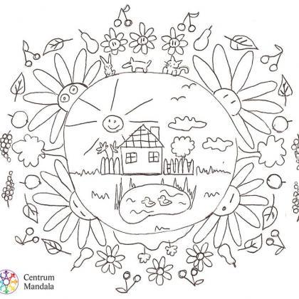 mandala pro děti - domeček
