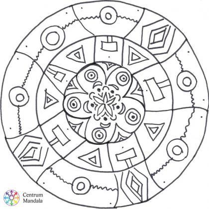 mandala pro děti - tvary