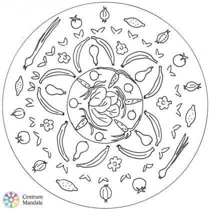 mandala pro děti - zelenina