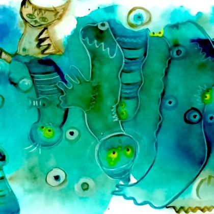 akvarel hratky