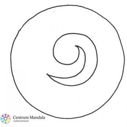 dubnový mandalový symbol