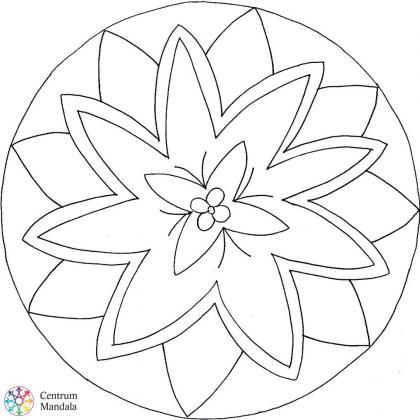 antistresová omalovánka mandala hvězda