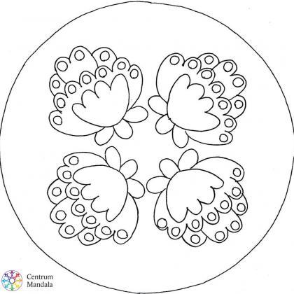antistresová omalovánka mandala květy