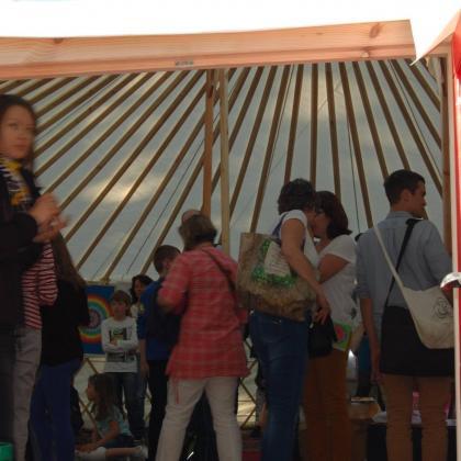 výstava v jurtě - vstup