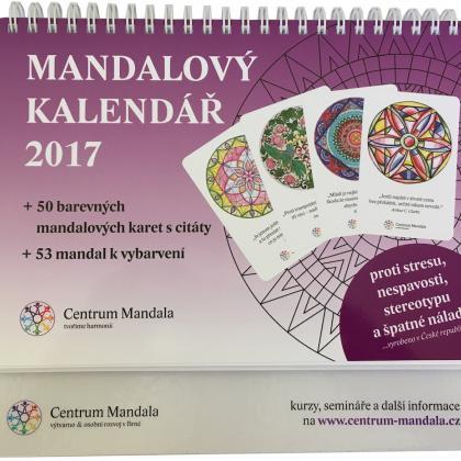 mandalový kalendář 2017