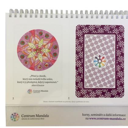 mandalová karta z kalendáře