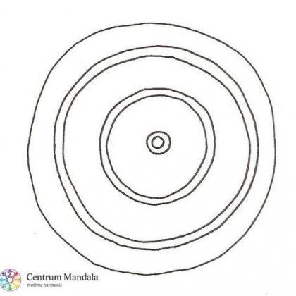 květnový mandalový symbol