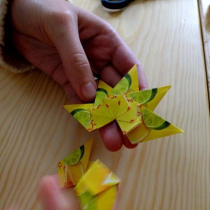 lepení hvězdičky – tea bag folding návod