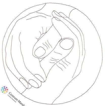 mandala pro děti - ruce