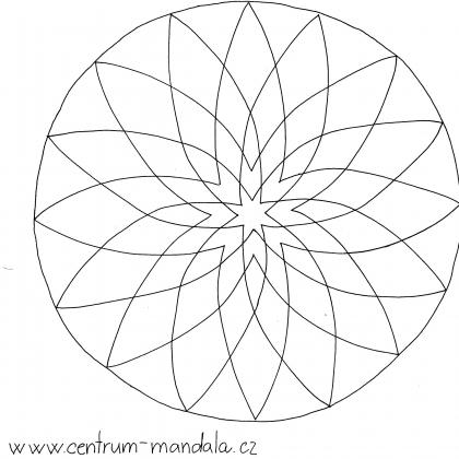 mandalová předloha - jednoduchá