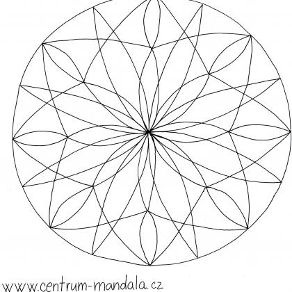 mandalová předloha - síť