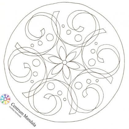 předloha mandaly tvořená šablonou pro tvoření mandal