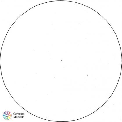 prázdný kruh - mandala