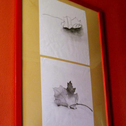 Fotka z vernisáže Neumím a přece kreslím