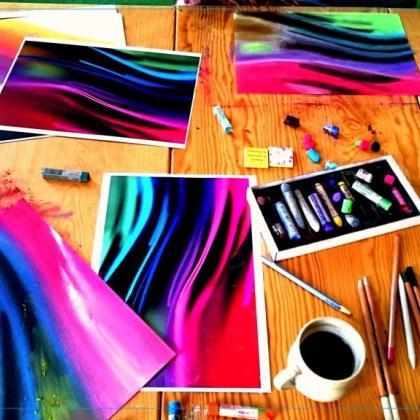 míchání odstínů barev