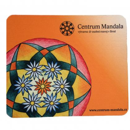 Mandala Mouse Pad Orange