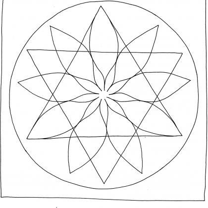mandalová předloha - posvátná geometrie