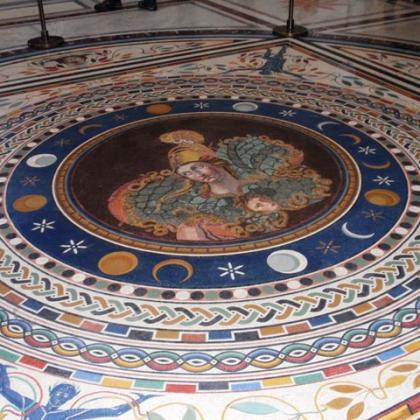 podlaha kostela