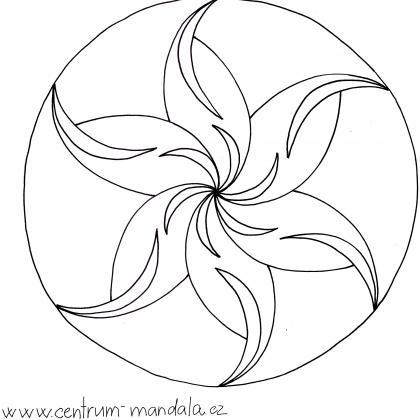 mandalová předloha - v pohybu