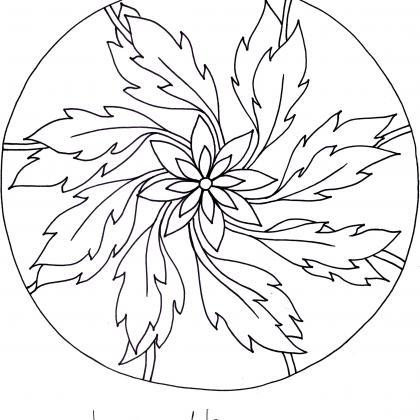 mandalová předloha - větrná