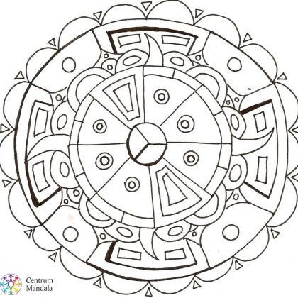 antistresová omalovánka mandala geometrická