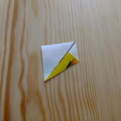 druhý sklad A – tea bag folding návod