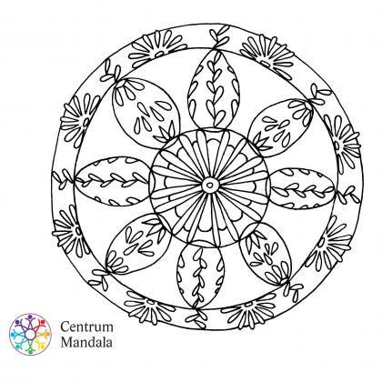 mandala pro děti - velikonoční