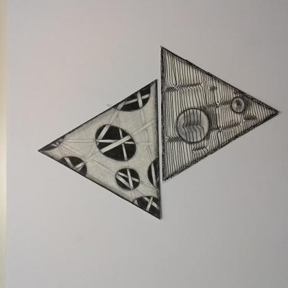 transparentní kresba