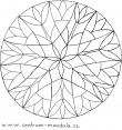 mandalová předloha - spletitá