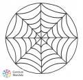 mandala pavoučí síť